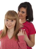 Two young girl friends Royalty Free Stock Photos