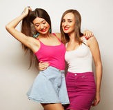 Two young girl friends Stock Photos