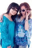Two young girlfriends Stock Images