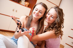 Two young girls Stock Photos