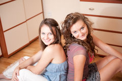 Two young girls Royalty Free Stock Photo