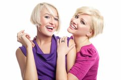 Two young girls Stock Images