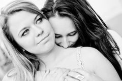 Two young girls Stock Photo