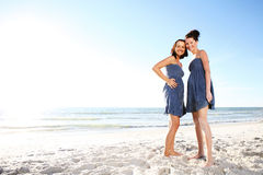 Two young girls. Royalty Free Stock Photo