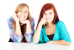 Two young girls friends Stock Photography