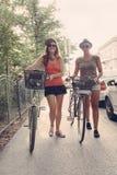 Two Young Girls Having Fun Outdoors Stock Image