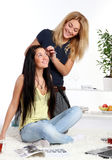 A two young girls at home Royalty Free Stock Photos