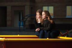 Teenage girls daydreaming Royalty Free Stock Photos