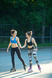 Two young girls in sports Royalty Free Stock Image