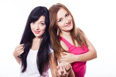Two young girls. Royalty Free Stock Photos