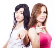 Two young girls. Stock Photography