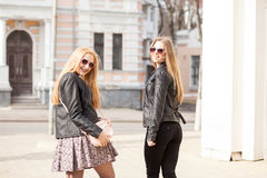 Free Two Young Girsl Hanging Out In The City Royalty Free Stock Image - 97731936
