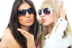 Two young glamorous friends Royalty Free Stock Photo