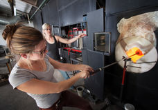 Artists Working with Furnace Stock Photo