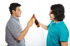 Two young guys with beer Royalty Free Stock Photography