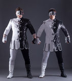Two young guys in theater costumes Royalty Free Stock Image