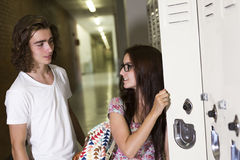 Two Young handsome  student at the college Royalty Free Stock Image