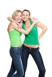 Two young happy girls Royalty Free Stock Image