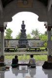Two Young Hindus Are Chatting After Worshiping At Jaganatha Temple Stock Photo