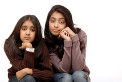 Two young indian girls Royalty Free Stock Photography