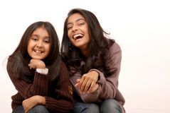Two young indian girls Stock Image