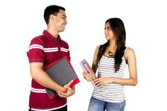 Two young Indian students Stock Photo