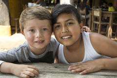 Two Young Kids happy. Royalty Free Stock Photo