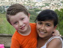 Two Young Kids. Stock Photo