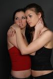 Two young lesbian girl friend Royalty Free Stock Images