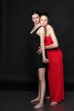 Two young lesbian girl friend Royalty Free Stock Image