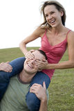 Two young lovers having fun Royalty Free Stock Images