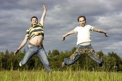 Two young men Royalty Free Stock Photos