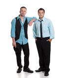 Two young men Stock Images