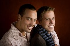 Two Young Men Stock Photo