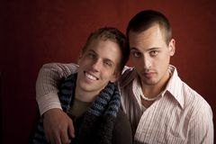 Two Young Men Stock Image