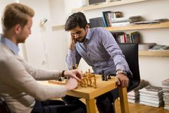 Chess playing stock photos