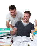 Two young men studying together Stock Photos