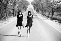 Two young models Royalty Free Stock Image