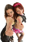 Two young models dancing Royalty Free Stock Photo