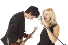Two young musicians Royalty Free Stock Photography