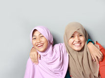 Two young muslim kid Royalty Free Stock Image