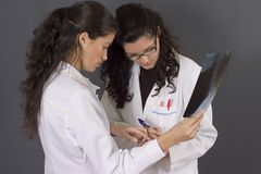 Two young nurses Royalty Free Stock Image