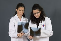 Two young nurses Royalty Free Stock Photos