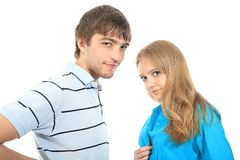Two young people Royalty Free Stock Photos