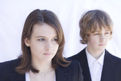 Two young people. Portrait of two young people Stock Photo
