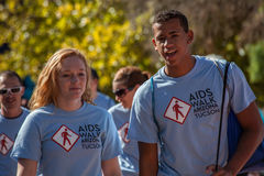 Two Young People at AIDSwalk Stock Photo