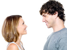 Two young people dating Royalty Free Stock Photos