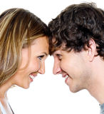 Two young people dating Stock Images