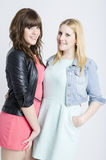 Two young pretty women togheter. Open to interpretations Royalty Free Stock Images