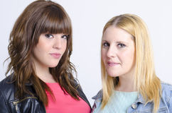 Two young pretty women togheter. Open to interpretations Stock Image